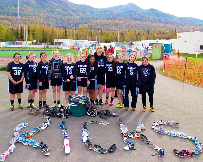 Chugiak Team with Shoes